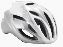 MET Rivale Cykelhjelm Hvid/Sølv