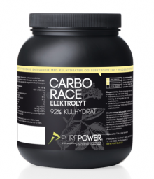 Pure Power Carbo Race Elektrolyt Hyldeblomst 1,5 kg.